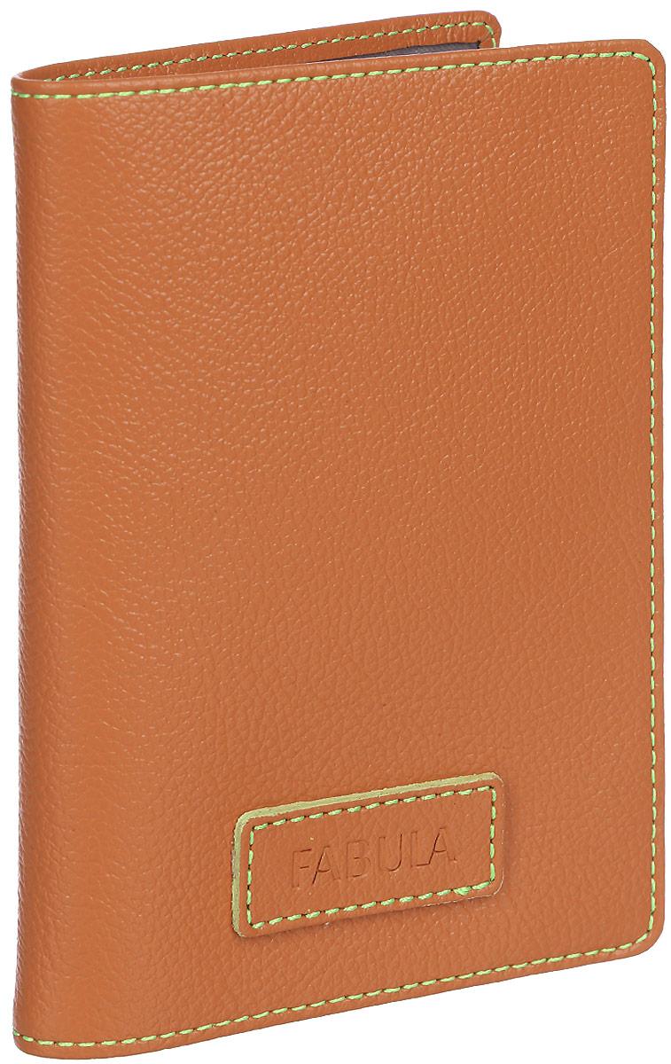 Обложка для паспорта женская Fabula Brooklyn, цвет: оранжевый. O.82.FP15-333-15Обложка для паспорта из коллекции «Brooklyn» выполнена из натуральной кожи. На внутреннем развороте 2 кармана из прозрачного пластика, шелковистая подкладка.