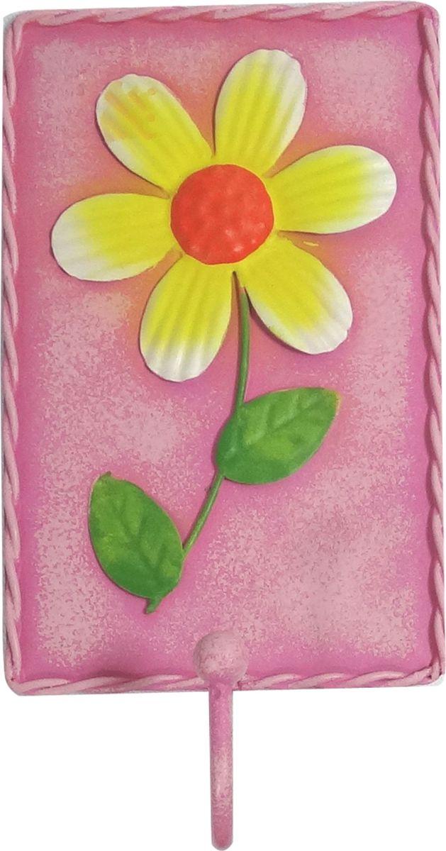 Вешалка-крючок Magic Home, цвет: розовый. 43883DEN-20Вешалка-крючок Розовая (8,8х18,5см). Крючки настенные изготовлены из жести и оформлены красочным изображением. Это изделие больше, чем просто крючки, это оригинальное интерьерное решение, которое задает настроение и стиль. Изделие не боится повседневной эксплуатации и будет служить долго.