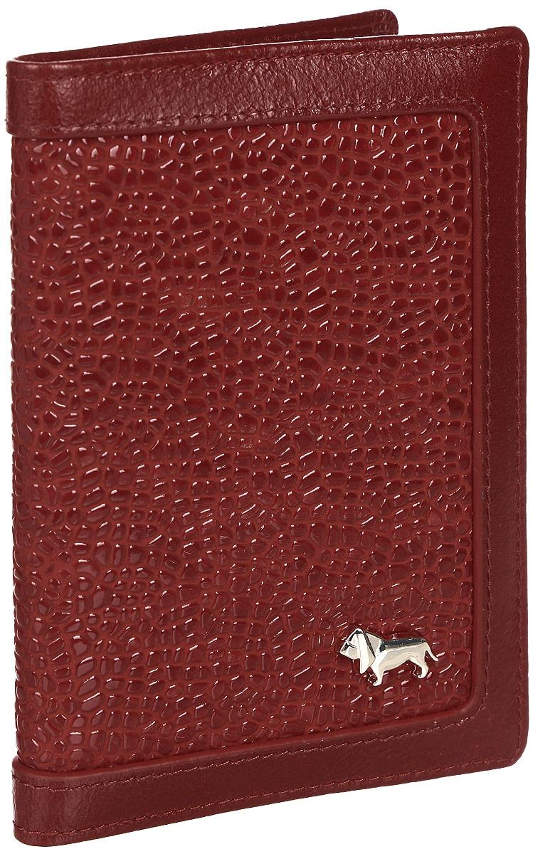 Обложка Labbra L043-1012 redВДОПК9Обложка для паспорта торговой марки LABBRA из натуральной кожи. Модель не имеет дополнительных отделений. кожа лакированная с тиснением