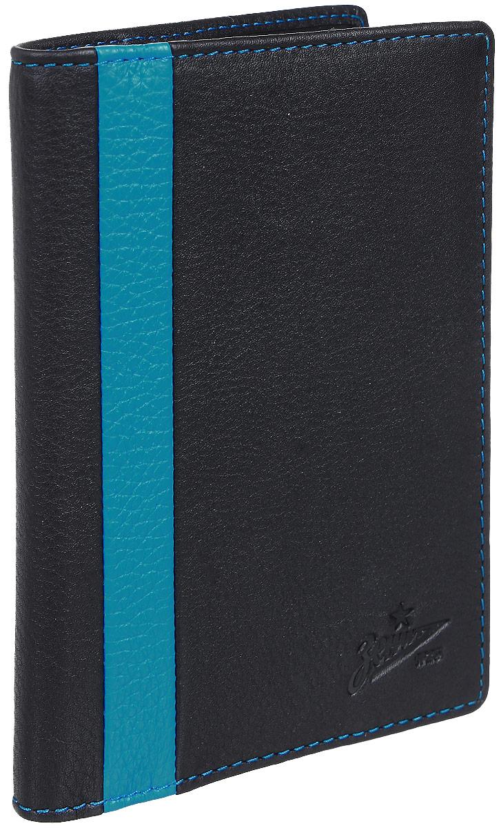 Обложка для паспорта мужская Gianni Conti, цвет: черный. Z587455O.31.SH.черныйРаскладывается пополам,внутри левое поле натуральная кожа - 3 см, правое поле натуральная кожа - 7 см,на нем шесть кармашков для пластиковых карт.