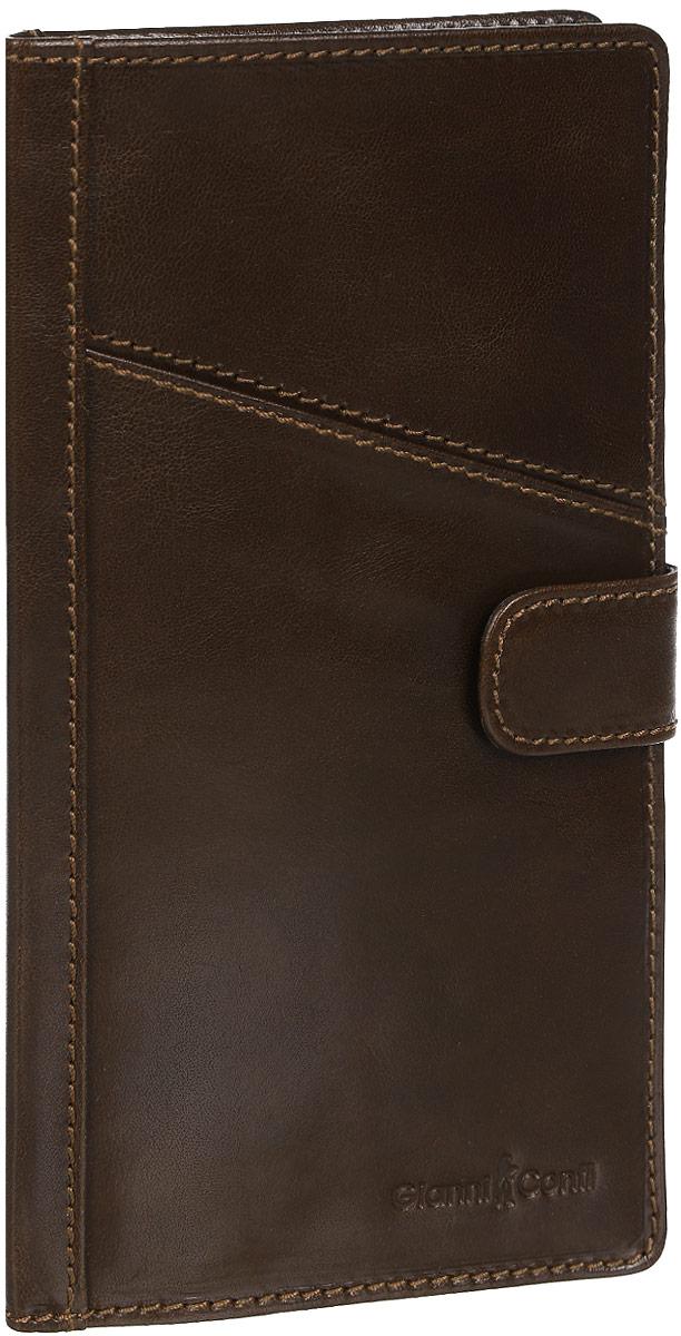 Обложка для документов Gianni Conti, цвет: коричневый. 907036 - Конверты для путешествий