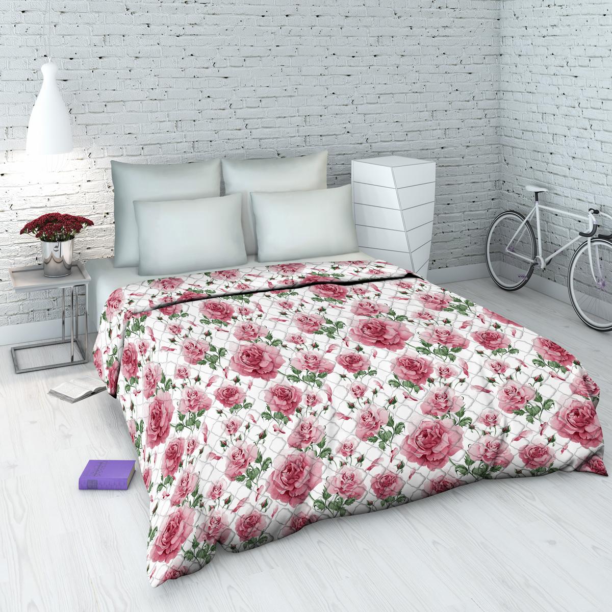 Покрывало Василиса На даче, 145 х 205 см, цвет: розовый98299571Декоративное стеганое покрывало из хлопка - привычный аксессуар для многих спален. Приятное на ощупь и красивое на вид. Может использоваться как покрывало в интерьере гостиных, детских, спален (особенно в загородных домах), так и в качестве облегченного одеяла в летний сезон. Чехол - бязь, 100% хлопок, наполнитель - силиконизированное волокно.
