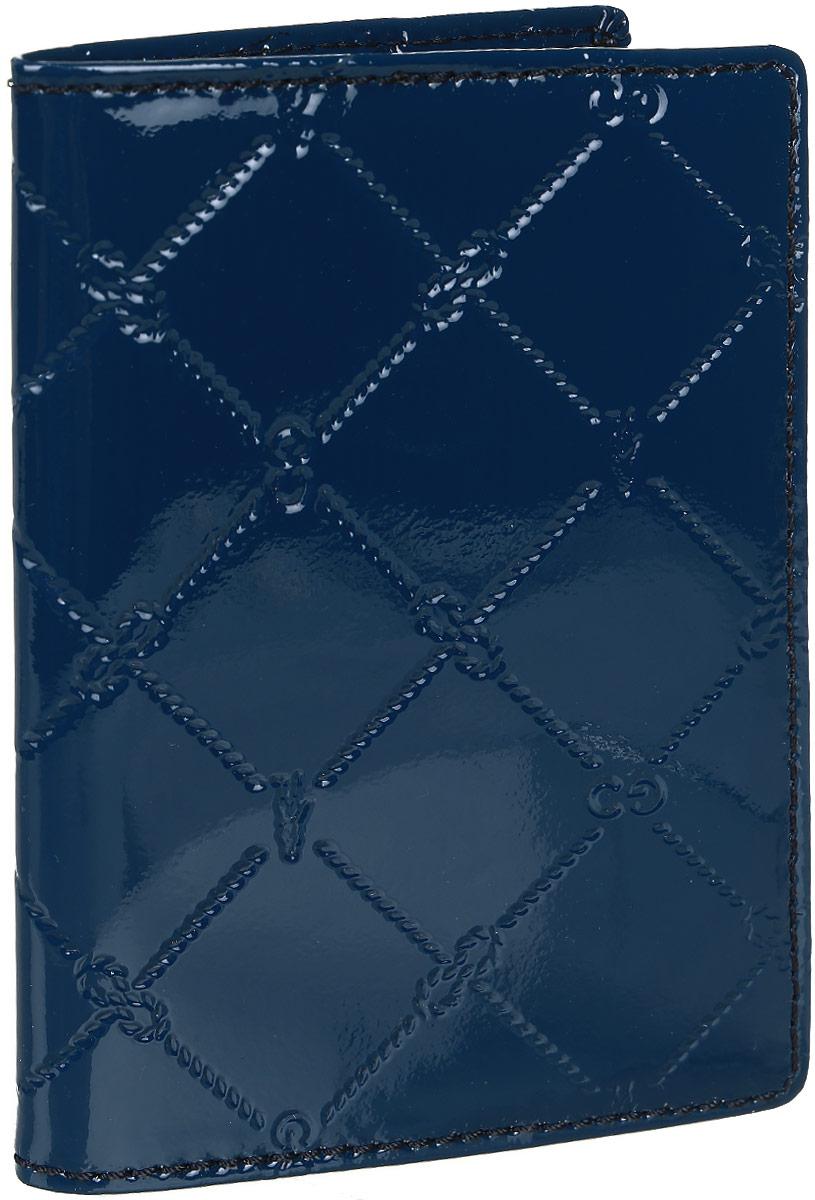 Обложка для паспорта женская Gianni Conti, цвет: синий. 3777493450/8_коричневыйОбложка для паспорта женская Gianni Conti выполнена из натуральной кожи. Модель раскладывается пополам, имеет широкие поля.