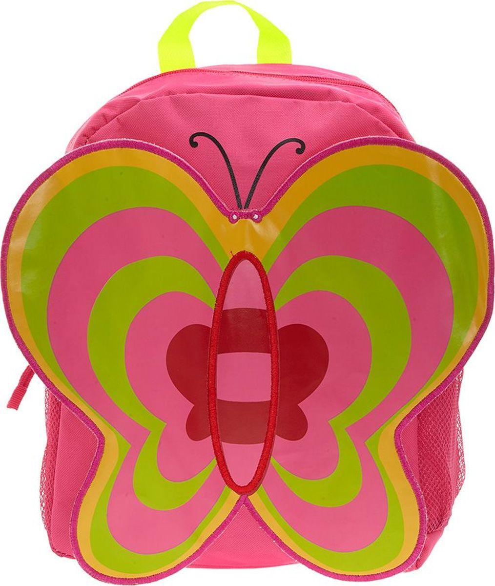 3D Bags Рюкзак детский Бабочка72523WDИдеально подходят для хранения важных и необходимых вещей, которые так необходимы маленькой принцессе на детской площадке, во время прогулки или на пикнике. Сделан из прочного, износоустойчивого полиэстера. Просторный внутренний отсек будет очень удобен в использовании. Лицевая сторона рюкзака выполнена в форме объемной бабочки с большими привлекательными крылышками. Отлично подходит для детей от 2-х до 5-ти лет.