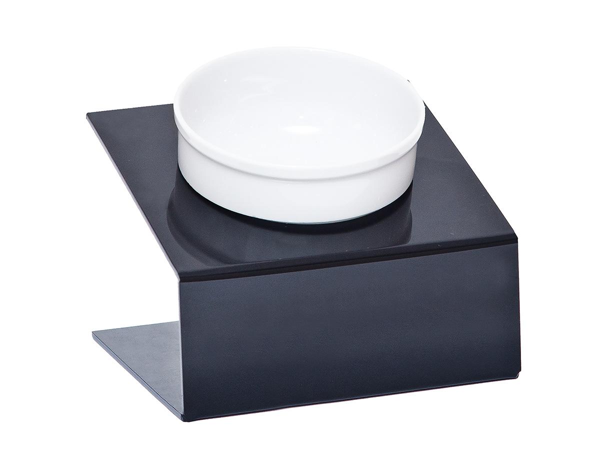 Миска для животных  Artmiska , одинарная, на подставке, цвет: черный, 350 мл - Аксессуары для кормления
