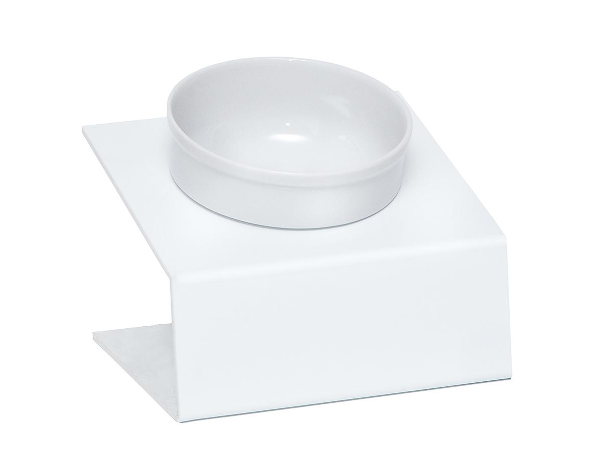 Миска для животных  Artmiska , одинарная, на подставке, цвет: белый, 350 мл - Аксессуары для кормления