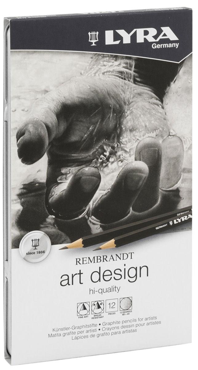 Lyra Художественные карандаши Art Design 12 шт72523WDЧернографитные карандаши Lyra Art Design прекрасно подойдут для выполнения художественных работ, графических зарисовок и чертежей. Эти карандаши отличаются высокой прочностью. Градация мягкости-твердости варьируется от 6B (самый мягкий) до 4H (самый твердый). В набор входят 12 карандашей, твердостью 6B, 5B, 4B, 3B, 2B, B, HB, F, H, 2H, 3H и 4H.