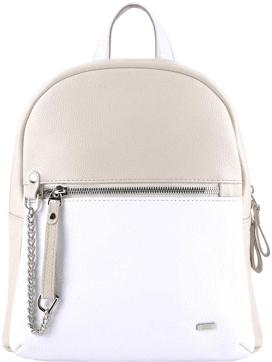 Рюкзак женский Esse Тиффани, цвет: молочный, белыйKV996OPY/MОригинальный женский рюкзак небольшого размера Esse Тиффани изготовлен из натуральной кожи. Рюкзак закрывается на двухстороннюю молнию Внутри имеется одно отделение, карман на молнии и открытый карман. Снаружи расположен вместительный карман на молнии. Рюкзак оснащен ручкой для переноски и удобными плечевыми лямками. Длину лямок можно регулировать.