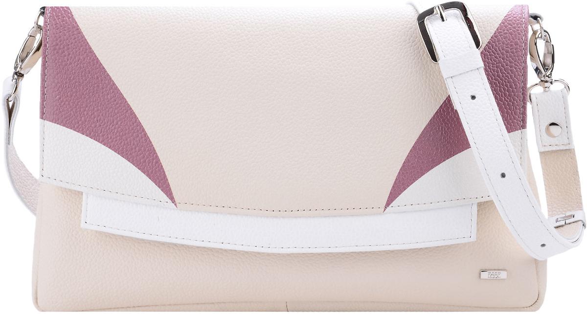Сумка женская Esse Шерон, цвет: молочный, белыйBM8434-58AEИзящная женская сумка Esse Шерон изготовлена из натуральной кожи. Сумка состоит из двух отделений, внутри - открытый карман для мелочей и карман на молнии. На задней стенке расположен врезной карман на молнии. Застегивается сумка на молнию и клапан с потайным магнитом. Сумка укомплектована ремнем для ношения через плечо. Длина ремня регулируется.