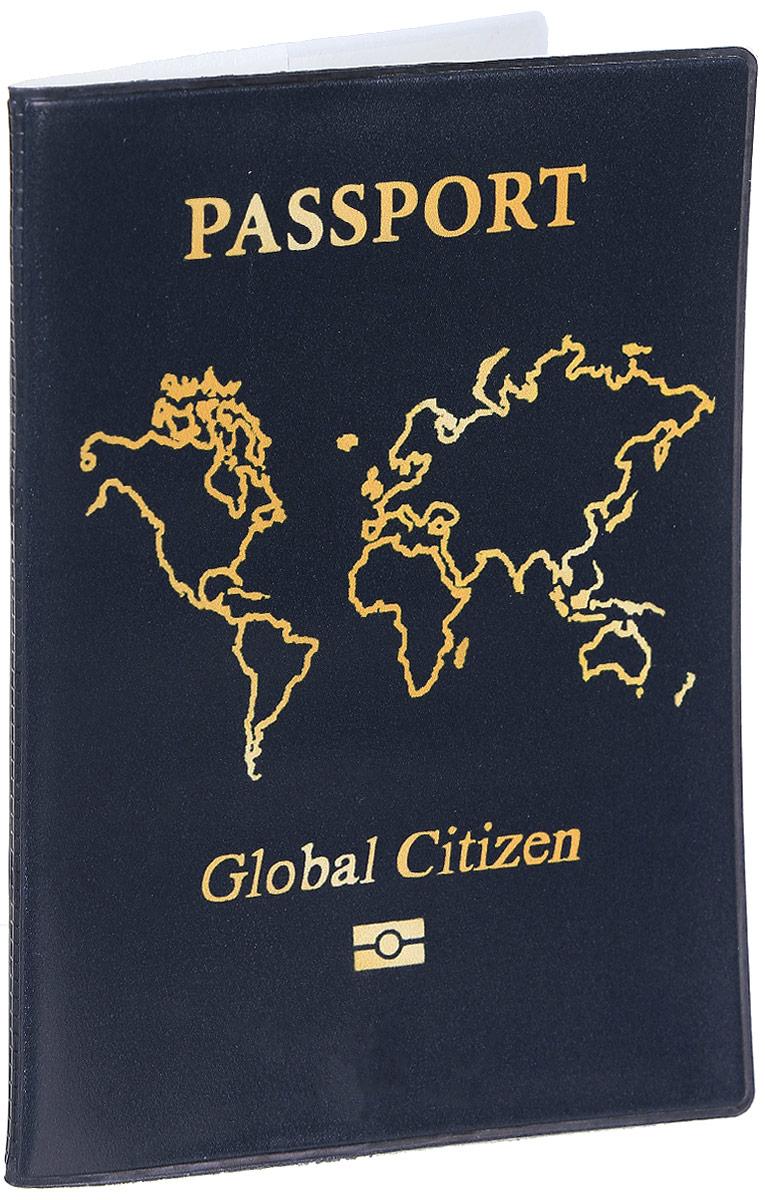 Обложка для паспорта Kawaii Factory Global citizen, цвет: темно-зеленый. KW064-000031GL-225Обложка для паспорта от Kawaii Factory - оригинальный и стильный аксессуар, который придется по душе истинным модникам и поклонникам интересного и необычного дизайна.Качественная обложка выполнена из легкого и прочного ПВХ с приятной фактурой, который надежно защищает важные документы от пыли и влаги. Рисунок нанесён специальным образом и защищён от стирания.Изделие раскладывается пополам. Внутри размещены два накладных кармашка из прозрачного ПВХ.