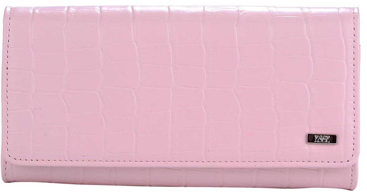 Кошелек женский Esse Радо, цвет: розовый, серый. GRDO00-00MG00-FI905O-K100INT-06501Большой вместительный кошелёк - купюрник. Имеет 3 широких отделения для купюр и 4 дополнительных открытых кармана, 6 прорезных карманов для кредитных карт (одно в виде кармашка с пластиковым окном). На задней стенке отделение для мелочи, закрывающееся на молнию. Закрывается на кнопку.
