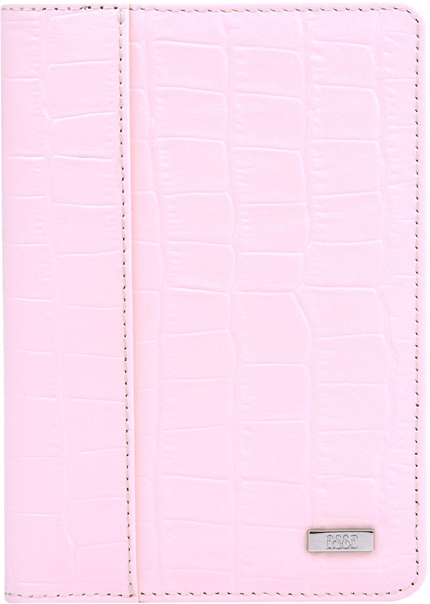 Обложка для паспорта женская Esse Page, цвет: розовый, серый. GPGE00-000000-FI905O-K100MX3024820_WM_SHL_010Обложка для паспорта из натуральной кожи. Внутри 3 прорезных кармана для карт.