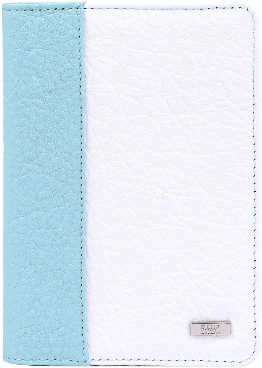 Обложка для автодокументов женская Esse Page auto, цвет: мята, белый, синий. GPGA00-000000-FJ638O-K100CA-3505Обложка с закругленными углами из натуральной кожи. Внутри 3 прорезных кармана для карт, 2 открытых кожаных кармана. Пластиковый блок (6 карманов) позволяет рационально разместить все необходимые документы, в т. ч. страховку и доверенность