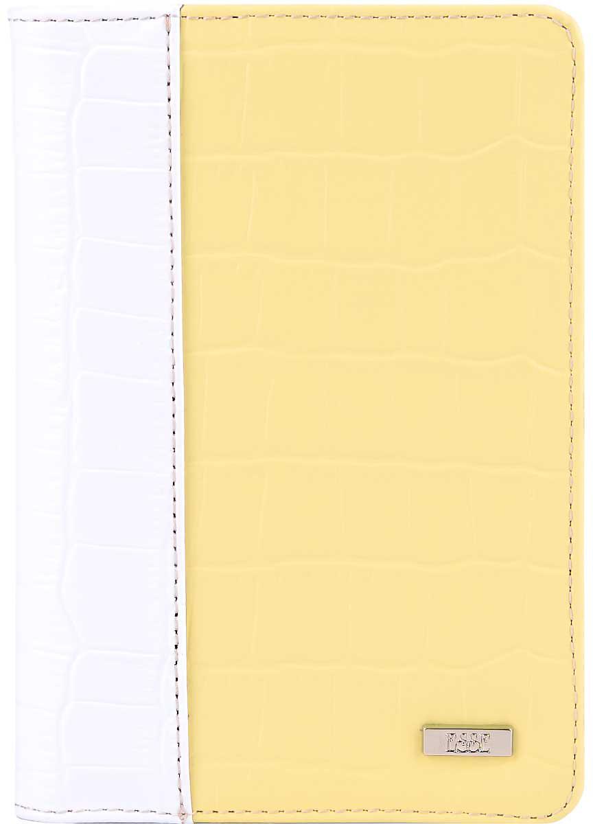 Обложка для автодокументов женская Esse Page auto, цвет: желтый, белый. GPGA00-000000-FI818O-K100GPGA00-000000-FI818O-K100Стильная и функциональная женская обложка для автодокументов Esse Page Auto не только поможет сохранить внешний вид ваших документов, но и станет стильным аксессуаром, идеально подходящим вашему образу.Обложка выполнена из качественной натуральной кожи с оригинальным тиснением. Подкладка выполнена из полиэстера.Изделие раскладывается пополам и содержит три прорези для кредитных карт или визиток, два боковых открытых кармана и пластиковый блок с шестью файлами, позволяющий рационально разместить все необходимые документы, в том числе страховку.Изделие поставляется в фирменной упаковке.Оригинальная обложка для автодокументов Esse станет отличным подарком для человека, ценящего качественные и практичные вещи.