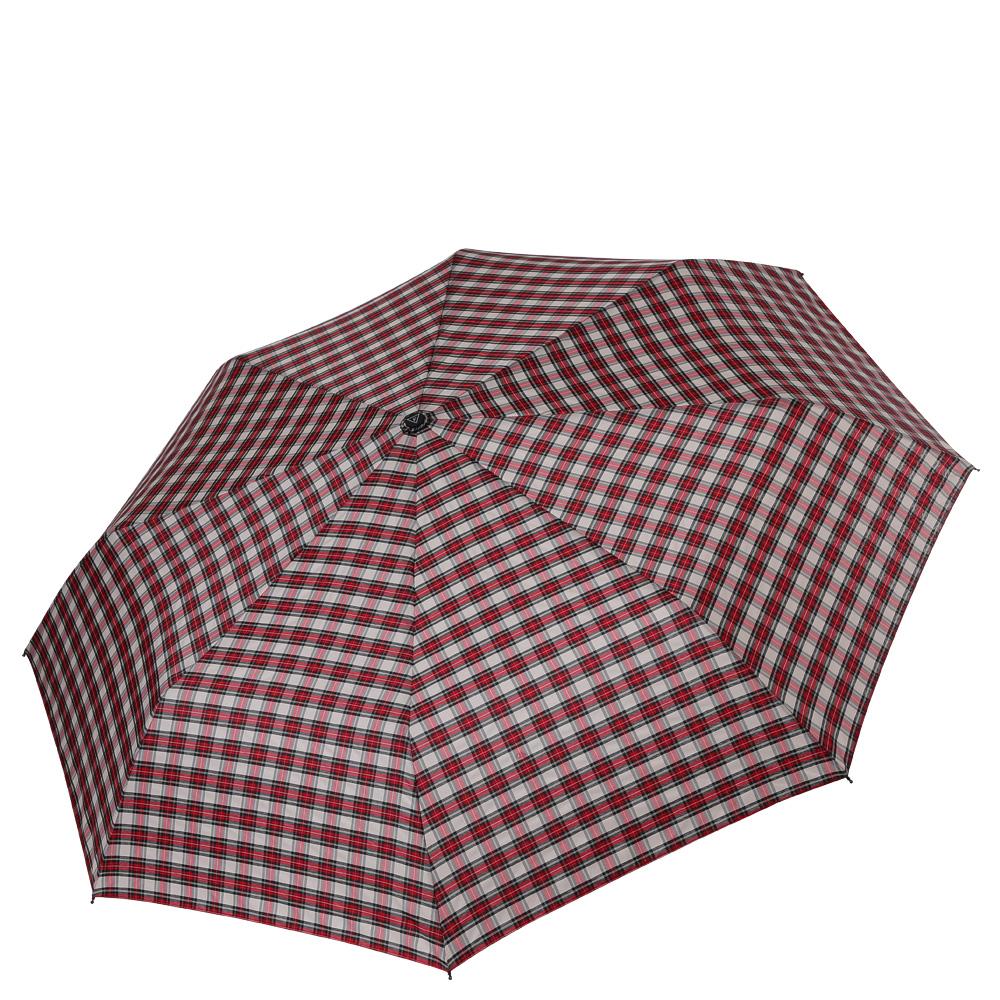Зонт женский Fabretti, цвет: красный. FCH-10QA-11739-7Классический зонт - полный автомат от итальянского бренда Fabretti. Материал купола - эпонж, обладает высокой прочностью и износостойкостью. Вода на куполе из такого материала скатывается каплями вниз, а не впитывается, на нем практически не видны следы изгибов. Эргономичная ручка сделана из высококачественного пластика-полиуретана с противоскользящей обработкой.