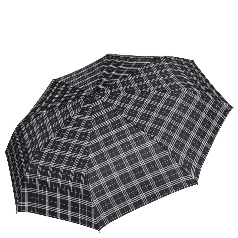 Зонт женский Fabretti, цвет: черный. FCH-11CX1516-50-10Классический зонт - полный автомат от итальянского бренда Fabretti. Материал купола - эпонж, обладает высокой прочностью и износостойкостью. Вода на куполе из такого материала скатывается каплями вниз, а не впитывается, на нем практически не видны следы изгибов. Эргономичная ручка сделана из высококачественного пластика-полиуретана с противоскользящей обработкой.