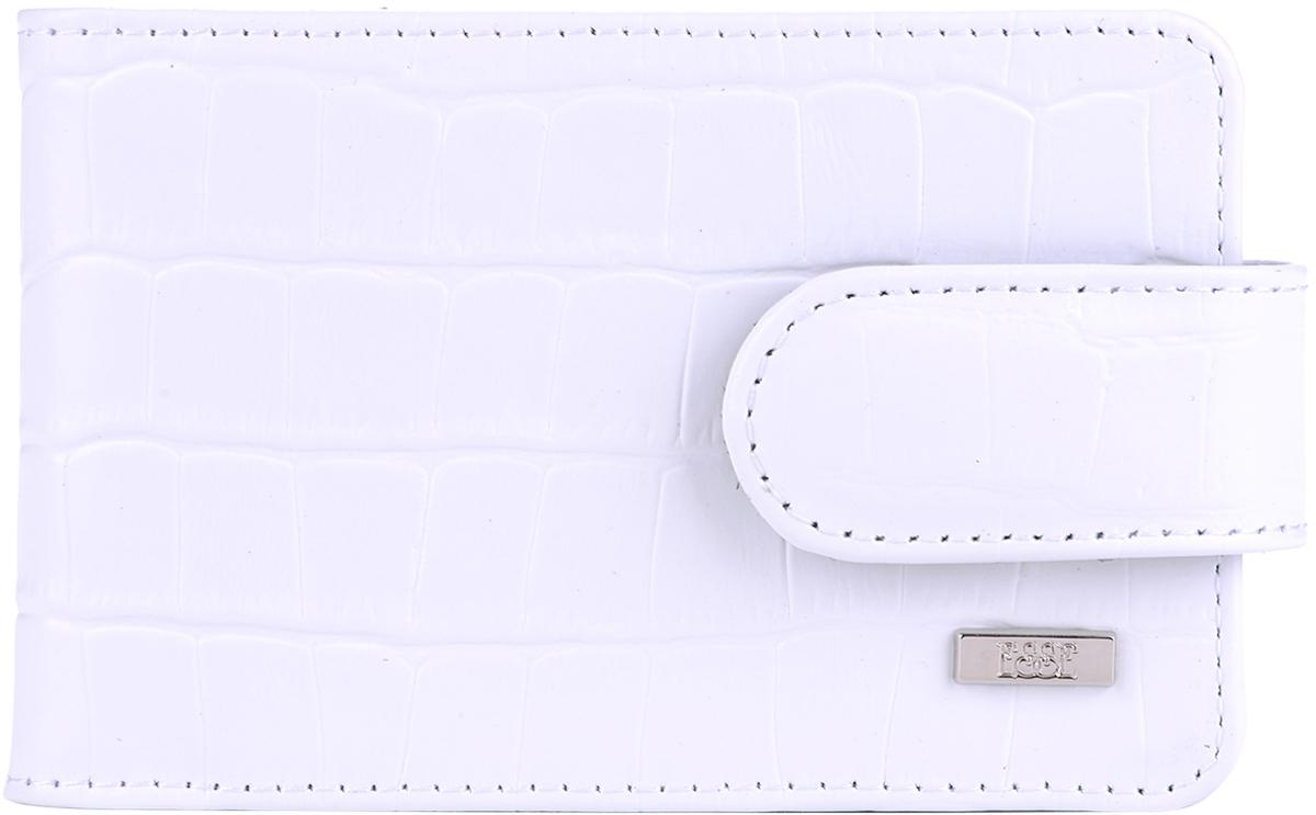 Визитница женская Esse Линда, цвет: белый, черный. GLND00-00KN00-FJ003O-K100ДЧФункциональный аксессуар, позволяет разместить 40 дисконтных и кредитных карт. Удобная выемка на пластиковом кармане позволяет быстро и легко достать необходимую карту. В зависимости от наполнения ы картами, можно регулировать закрывание хлястика, контролируя плотное закрывание как наполненной, так и полупустой кредитницы