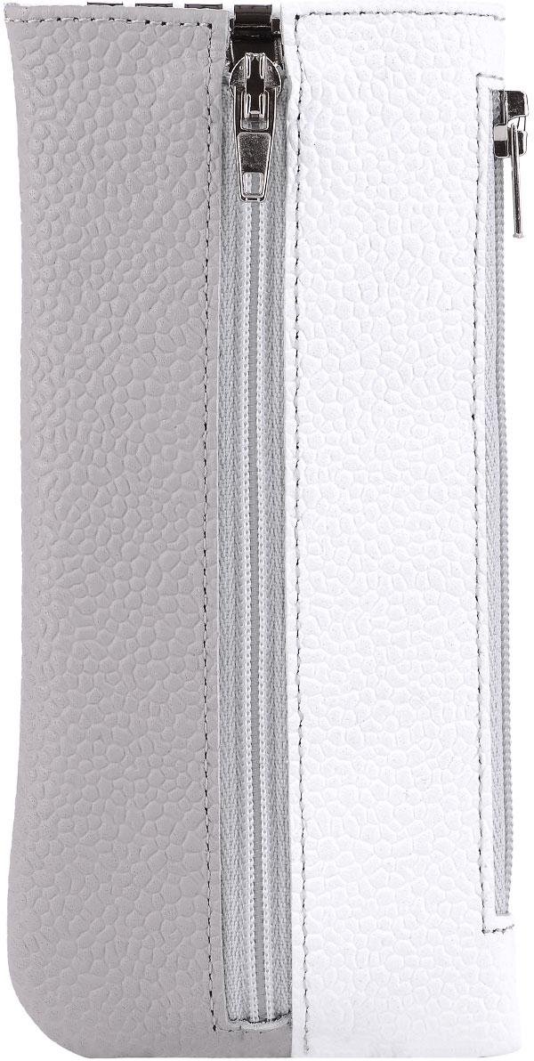 Ключница женская Esse Грета, цвет: белый, серый. GGRT00-00ML00-FJ103O-K100Колье (короткие одноярусные бусы)Функциональная ключница, закрывающаяся на молнию. Имеет 6 крючков-карабинов для крепления ключей. Сбоку дополнительный карман на молнии