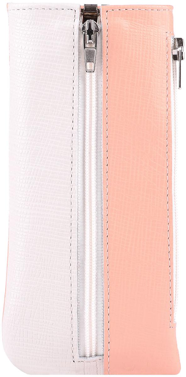 Ключница женская Esse Грета, цвет: персик, молочный. GGRT00-00ML00-FF441O-K100Колье (короткие одноярусные бусы)Функциональная ключница, закрывающаяся на молнию. Имеет 6 крючков-карабинов для крепления ключей. Сбоку дополнительный карман на молнии