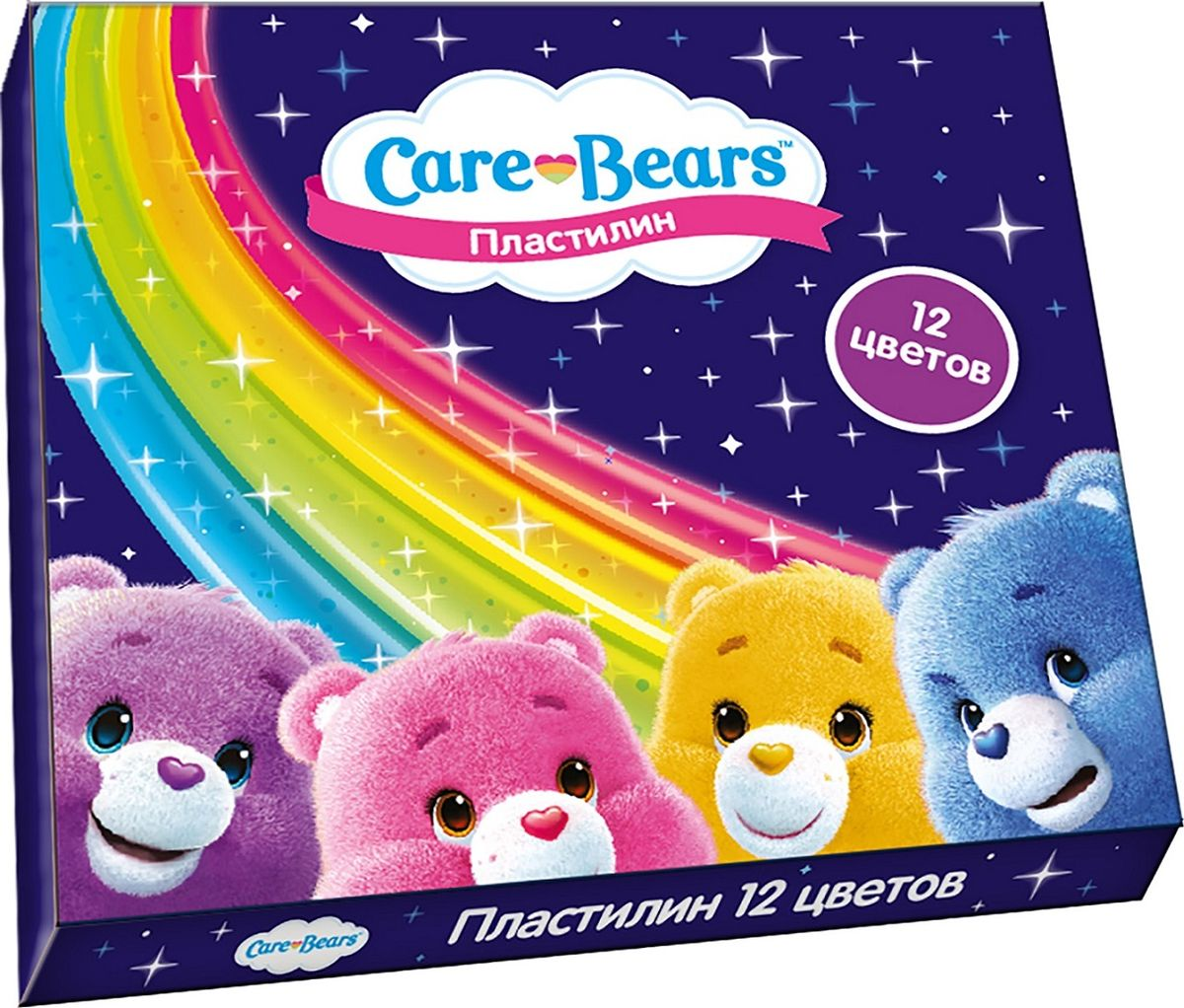 Care Bears Пластилин Заботливые мишки 12 цветовРП_10349Яркий и легко размягчающийся пластилин Заботливые мишки поможет вашему малышу создать множество интересных поделок, а любимые герои мультфильма вдохновят его на новые творческие идеи. Лепить из этого пластилина легко и приятно: он обладает отличными пластичными свойствами, не липнет к рукам, не имеет запаха, его цвета легко смешиваются друг с другом. Создавайте новые цвета и оттенки, фантазируйте, экспериментируйте - это увлекательно и полезно: лепка активно тренирует у ребенка мелкую моторику и умение работать пальчиками, развивает тактильное восприятие формы, веса и фактуры, совершенствует воображение и пространственное мышление. В наборе Заботливые мишки 12 ярких цветов пластилина по 15 г и пластиковая стека. Состав: парафин, петролатум, мел, каолин, красители.