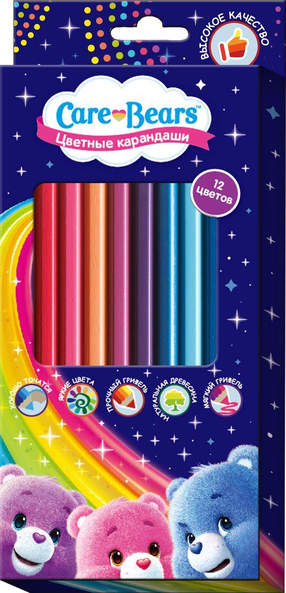 Care Bears Набор цветных карандашей Заботливые мишки 12 цветов72523WDЯркие карандаши ТМ Заботливые мишки помогут маленькому художнику создавать красивые картинки, а любимые герои вдохновят малыша на новые интересные идеи. В набор входит 12 цветных мягких и одновременно прочных карандашей, идеально подходящих для рисования, письма и раскрашивания. Яркие линии получаются без сильного нажима. Благодаря высококачественной древесине, карандаши легко затачиваются. Прочный грифель не крошится при падении и не ломается при заточке. Состав: древесина, цветной грифель.