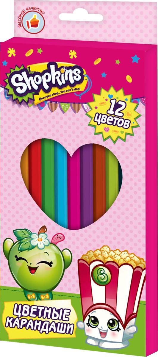Shopkins Набор цветных карандашей Шопкинс 12 цветов72523WDЯркие карандаши ТМ Шопкинс помогут маленькой художнице создавать красивые картинки, а любимые герои вдохновят малышку на новые интересные идеи. В набор входит 12 цветных мягких и одновременно прочных карандашей, идеально подходящих для рисования, письма и раскрашивания. Яркие линии получаются без сильного нажима. Благодаря высококачественной древесине, карандаши легко затачиваются. Прочный грифель не крошится при падении и не ломается при заточке. Состав: древесина, цветной грифель.