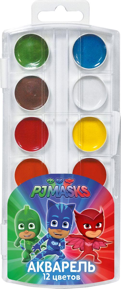 PJ Masks Акварель Герои в масках 12 цветовPP-103В наборе акварельных красок Герои в масках 12 насыщенных цветов, которые помогут вашему ребенку создать множество ярких картинок. Краски идеально подходят для рисования: они хорошо размываются водой, легко наносятся на поверхность, быстро сохнут, безопасны при использовании по назначению. Цвета: белый, желтый, оранжевый, красный, розовый, голубой, синий, светло-зеленый, темно-зеленый, светло-коричневый, коричневый, черный.Состав: вода питьевая, декстрин, глицерин, сахар, органические и неорганические тонкодисперсные пигменты, консервант, наполнитель.
