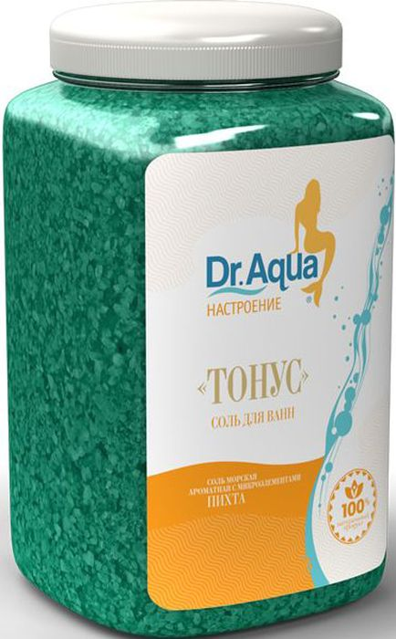 Dr. Aqua Соль морская ароматная Тонус, с экстрактом пихты, 750 гFS-00897Соли для ванн серии Аква-Настроение - настройся на свой лад! Будь в Тонусе!Натуральное эфирное масло хвои сибирской пихты обладает тонизирующим свойством, придает силы и бодрости.Природная морская соль Верхнекамского месторождения является уникальным оздоравливающим средством. Она идеально подходит для проведения SPA - процедур в домашних условиях. При растворении соли в воде образуется естественный осадок – это целебная межкристаллическая глина, которая содержит в себе более 40 жизненно важных макро и микроэлементов.Регулярный прием ванн с морской солью поддерживает процесс обновления клеток кожи, усиливает ее защитные функции, сохраняет молодость и здоровье.