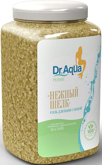 Dr. Aqua Соль морская ароматная с пеной Нежный шелк, с экстрактом жасмина, 750 г5203069062940Соли для ванн серии Аква-Релакс - SPA процедуры у Вас дома!Морская соль с добавлением натурального экстракта ромашки: обеспечивает идеальный уход за вашей кожей: Питает, Защищает, Осветляет; - обладает Успокаивающим действием.Морская соль Верхнекамского месторождения идеально подходит для проведения SPA - процедур в домашних условиях. При растворении соли в воде образуется естественный осадок – это целебная межкристаллическая глина, которая содержит в себе более 40 жизненно важных макро- и микроэлементов. Регулярный прием ванн с морской солью поддерживает процесс обновления клеток кожи, усиливает ее защитные функции, сохраняет молодость и здоровье.