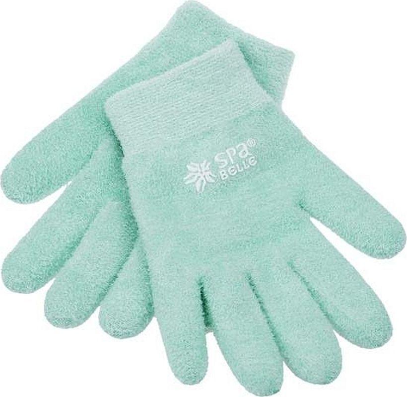 SPA Belle Увлажняющие гелевые перчатки с алоэ вера, цвет: зеленый5010777139655Косметические перчатки с гелевой пропиткой с маслами для экспресс-спа ухода за руками. Применение: очистить кожу, надеть изделие на 20-30 минут перед сном или во время отдыха. Допускается предварительное нанесение на кожу любых косметических средств, если это необходимо. Гель разогревается от тепла тела, масла проникают в кожу, увлажняют, тонизируют, заживляют микротрещины. Изделие можно подвергать ручной стирке в прохладной воде с мыльным раствором, сушка при комнатной температуре. Результат: шелковистая, гладкая и здоровая кожа рук.