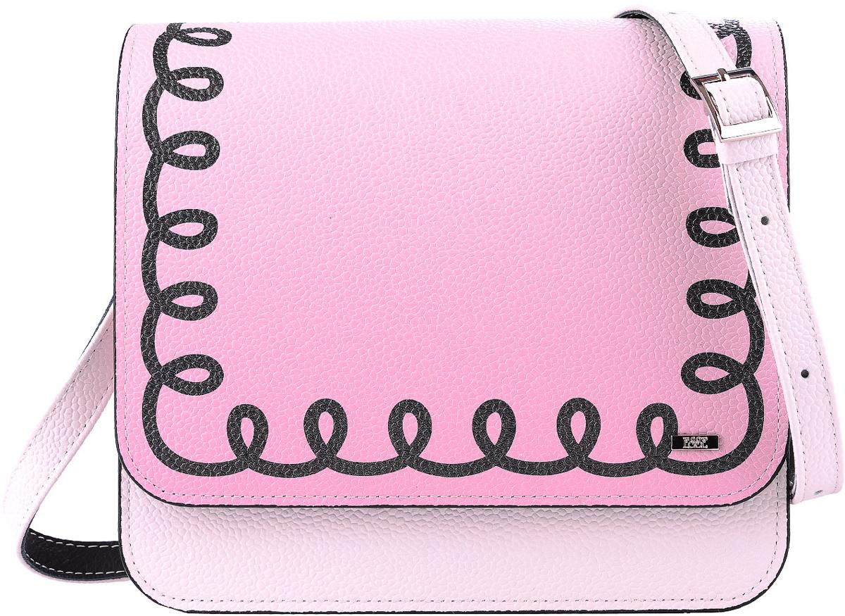 Сумка женская Esse Бони, цвет: розовыйBM8434-58AEЖенская сумочка Esse Бони жесткой конструкции изготовлена из натуральной кожи. Внутри расположено одно отделение, открытый карман для телефона и карман на молнии. Сумка закрывается на молнию и клапан на магните. Длина ремня регулируется с помощью пряжки.