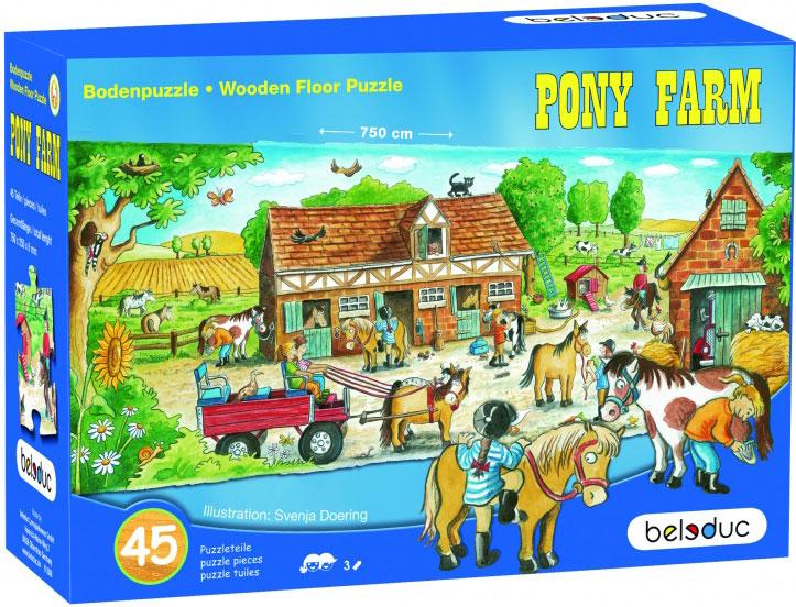 Beleduc Напольный пазл Ферма пони beleduc развивающая игрушка зоопарк