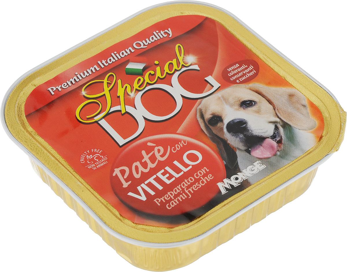 Консервы для собак Monge Special Dog, паштет с телятиной, 150 г0120710Консервы для собак Monge Special Dog - это полнорационный консервированный корм на основе телятины. Специально разработан для ежедневного кормления взрослых собак всех пород с нормальной физической активностью. Для собак мелких пород рекомендуется приблизительно 400 г продукта в день. Данная дозировка может меняться в зависимости от породы, возраста собаки и уровня ее активности. Подавать корм комнатной температуры. Важно, чтобы у животного всегда был свободный доступ к свежей и чистой воде. Товар сертифицирован.