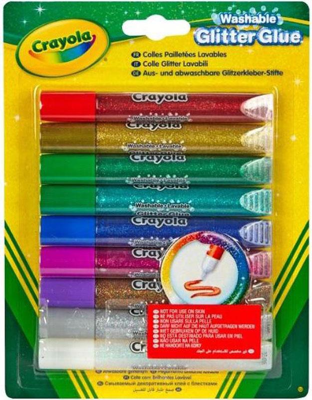 Crayola Клей с блестками 9 цветов -  Клей
