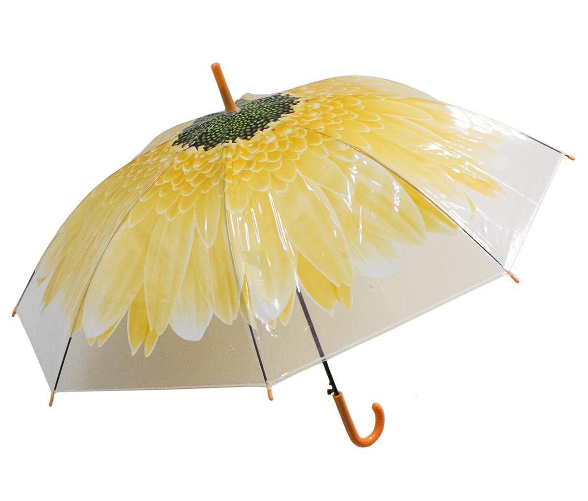 Зонт женский Эврика Цветок, цвет: желтый, белый. 97859K50K502473_0010Зонт-трость полиэтиленовый, диаметр купола 1 метр, длинна трости 74 см.Упаковка: пакет прозрачный.