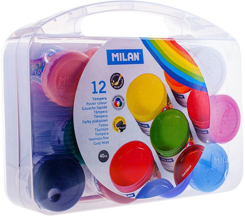 Milan Гуашь 12 цветов с кистью3212Гуашь Milan - светоустойчивые краски, изготовленные из высококачественных синтетических пигментов. Они имеют чистые, яркие цвета благодаря своей совершенной композиции.Плотные, с отличной укрывистостью. В комплект входит кисть.