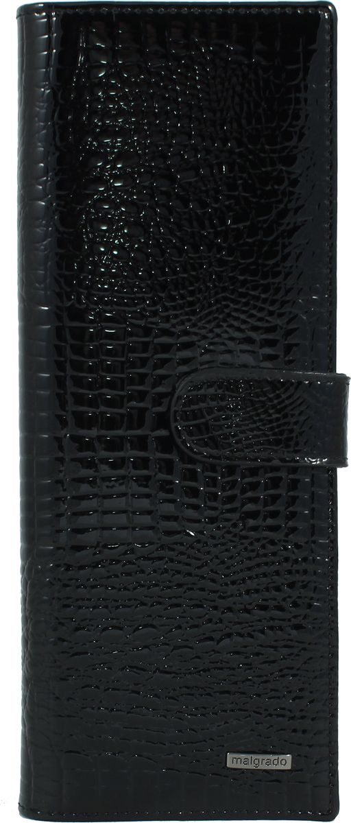 Визитница женская Malgrado, цвет: черный. 42001-46BM8434-58AEЖенская визитница Malgrado из натуральной лаковой кожи с тиснением под рептилию. Визитница рассчитана на 40 карточек, имеет 20 листов и 1 прозрачный кармашек. Странички выполнены из матового материала, и поэтому не слипаются. А также они пришиты блоком к самому телу визитницы.