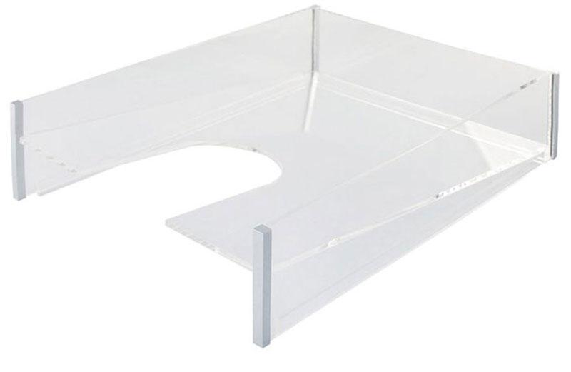 Лоток для бумаг Silwerhof Luftelegie - офисная принадлежность в стиле hi-tech. Лоток выполнен из кристально прозрачного акрила с элегантными хромированными деталями.Практичный лоток для бумаг всегда поможет вам избавиться от лишних документов и содержать порядок на рабочем столе. Он значительно облегчает делопроизводство.