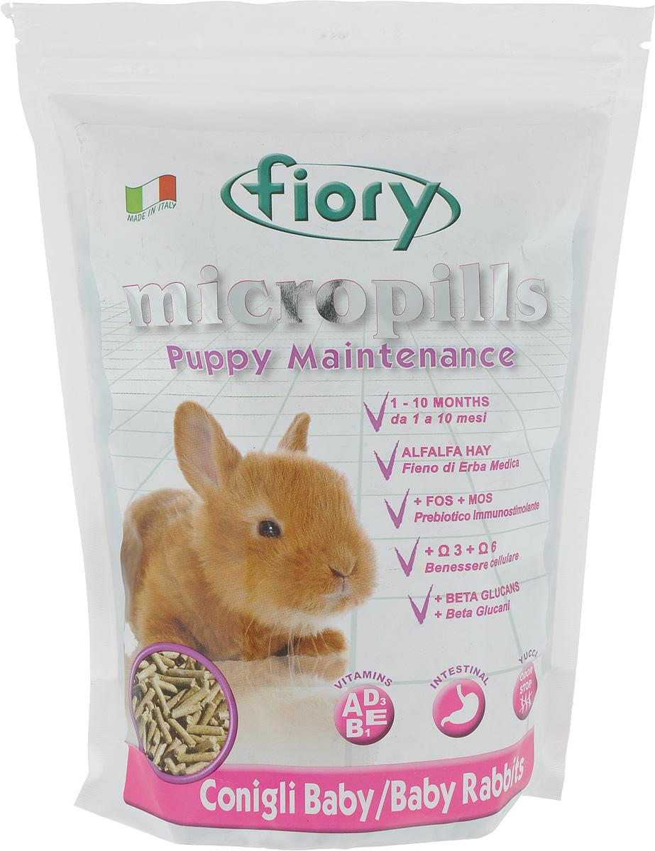 Корм сухой для крольчат Fiory Micropills Baby Rabbits, 850 г6320Корм сухой Fiory Micropills Baby Rabbits - это сбалансированный корм для крольчат декоративных пород до 10 месяцев. Предназначен для поддержания роста молодого организма и содержит все необходимые питательные вещества для данного периода жизни. В основе корма обезвоженная трава люцерны, которая является источником белка. Малый процент молока обеспечивает корму вкусовую привлекательность и помогает крольчонку более комфортно перейти от питания материнским молоком к сухой пище. Небольшая часть зерновых дает необходимые питательные элементы в этот период.Полезные нутрицевтики (дрожжи, инулин цикория, ФОС, продукты растительного происхождения, бета-глюканы, нуклеотиды, юкка Шидигера, масло огуречника (Омега-6) и жирные кислоты (Омега-3 DHA+EPA+DPA)) способствуют правильному пищеварению, укрепляют иммунную систему, повышают усвоение минеральных веществ, улучшают работу сердца и сосудов, играют важную роль в развитии головного мозга и зрения, способствуют здоровой коже и шерсти. Хелатные минералы помогают правильному развитию нервной и костной систем организма крольчонка. Корм выполнен в виде гранул одинакового размера. Упаковка с замком зип-лок надолго сохранит корм свежим. Товар сертифицирован.