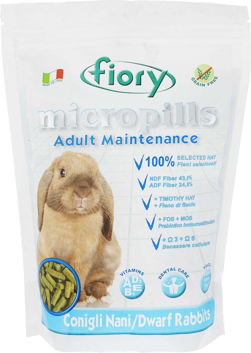 Корм сухой Fiory Micropills Dwarf Rabbits для карликовых кроликов, 850 г корм для кроликов fiory karaote 850 г