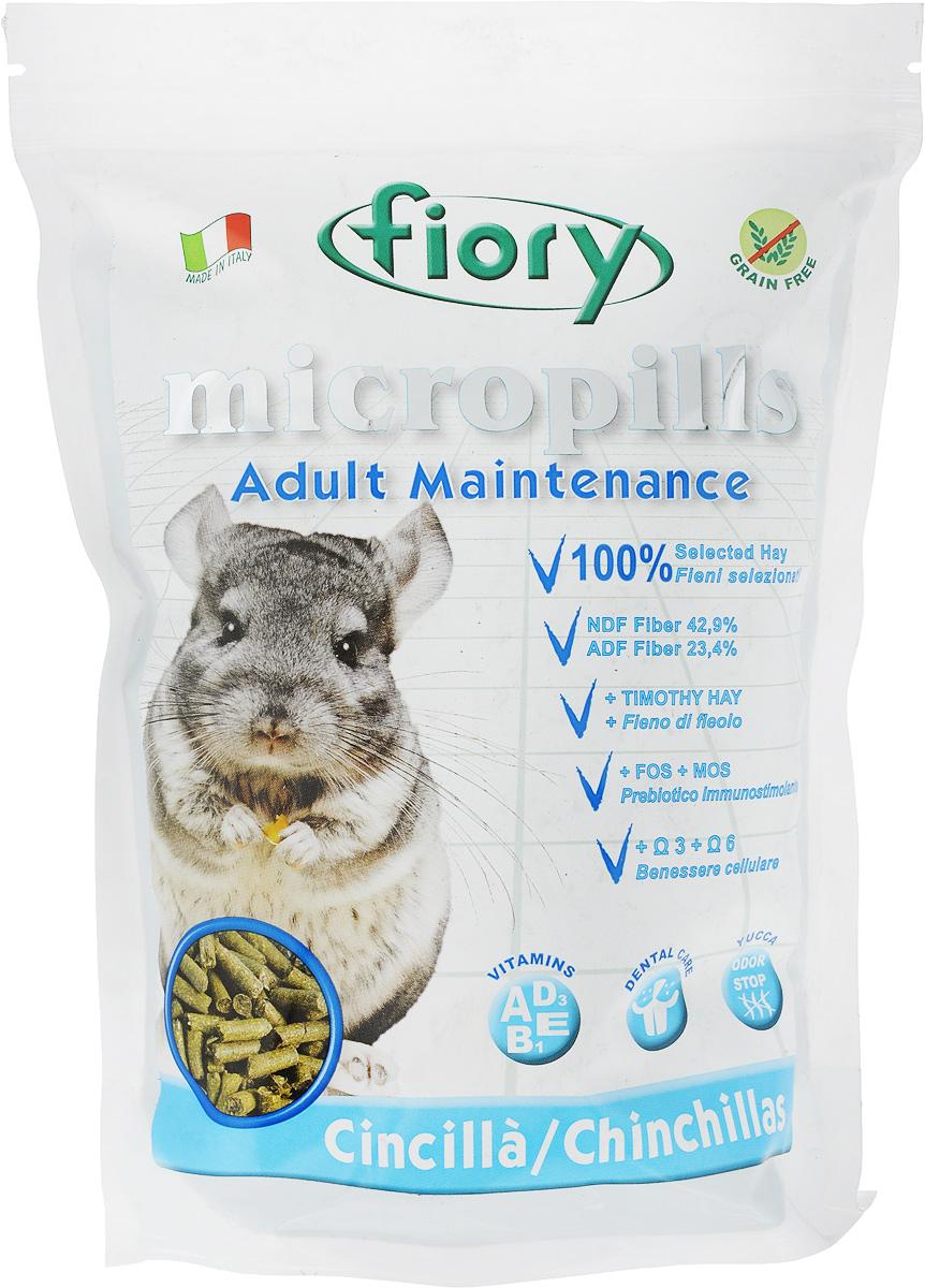 Корм сухой для шиншилл Fiory Micropills Chinchillas, 850 г корм для кроликов fiory karaote 850 г