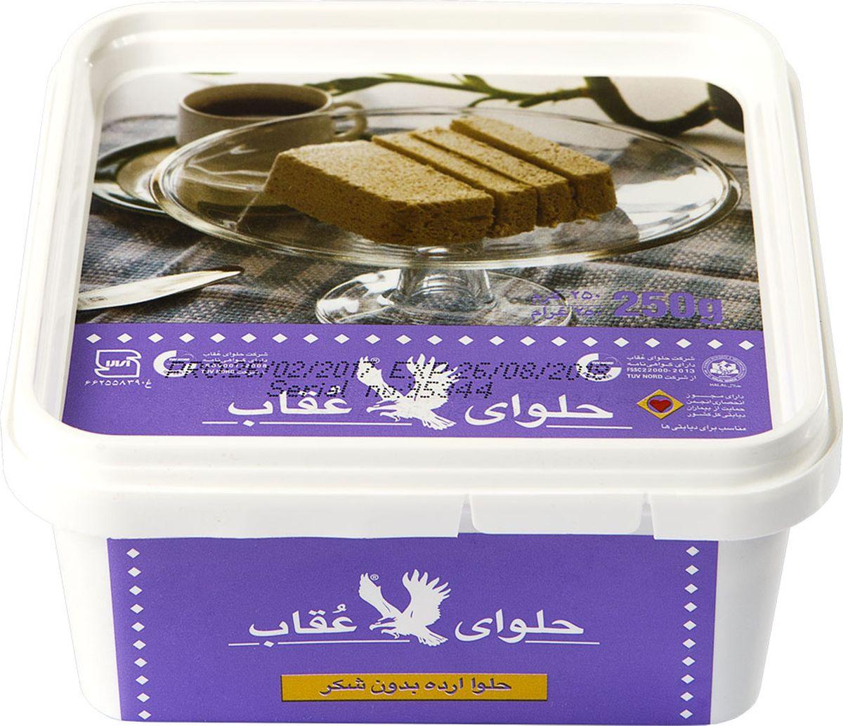 Oghab халва кунжутная без сахара, 250 г6260008904913Кунжутная халва КомпанииOghab изготавливается на основе мякоти кунжутного семени, что придает данному лакомству интересную горчинку и изысканное послевкусие. Несомненна и польза халвы - продукт способен насытить наш организм цинком и марганцем, в нем также много меди, фосфора и кальция. Кроме того данное лакомство имеет в своем составе железо, аскорбиновую кислоту, витамины F, В1 и Е.