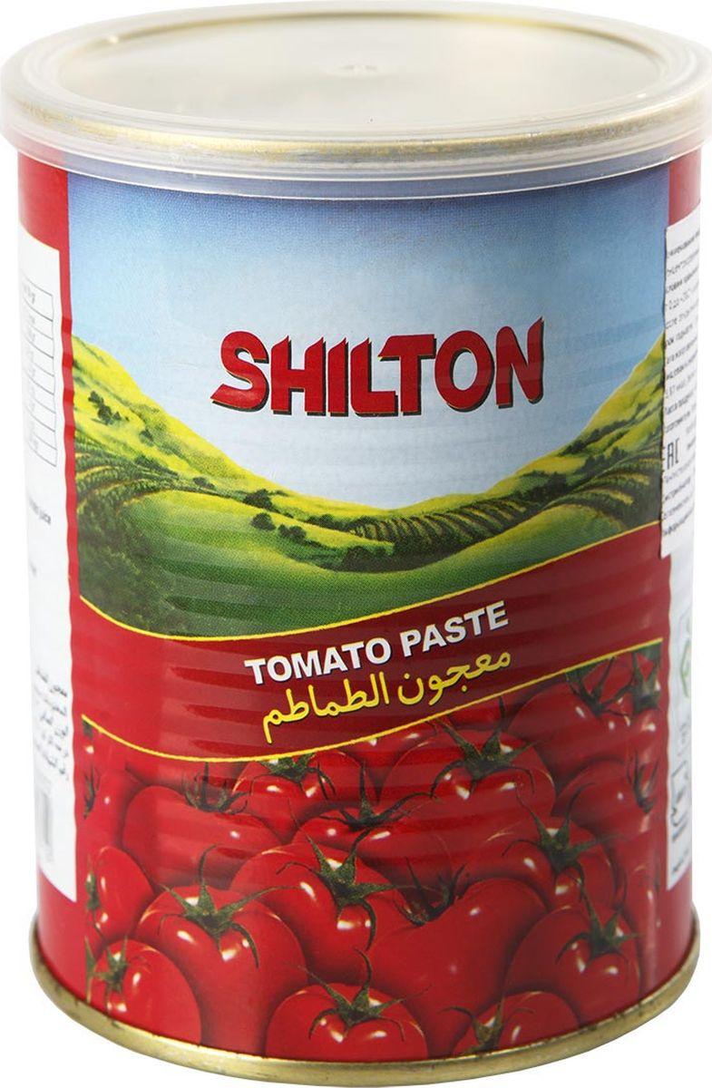 Shilton томатная паста, 400 г0120710Томатная паста Shilton изготовлена из сочных и спелых томатов, выращенных в условиях уникального климата Ирана. Прекрасный вкус и натуральность продукта завоевали внимание гурманов из многих стран мира. Томатная паста Shilton – однородная смесь, без примесей и черных частиц, без кожуры и косточек. Современные технологии Shilton сохраняют пасту для вас без консервантов.