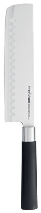 Нож тэппанъяки Nadoba Keiko, длина лезвия 18,5 см638613Нож тэппанъяки Nadoba Keiko изготовлен из высококачественной нержавеющей стали. Лезвие такого ножа остается острым очень долгое время. Эргономичная ручка выполнена из высокопрочного пластика и нержавеющей стали. Японский вариант поварского ножа. Используется поварами как для нарезки различных продуктов, например на плоском гриле, так и для переворачивания продуктов во время их приготовления (нож-лопатка).Нож Nadoba Keiko станет прекрасным дополнением к коллекции ваших кухонных аксессуаров.Длина лезвия: 18,5 см.
