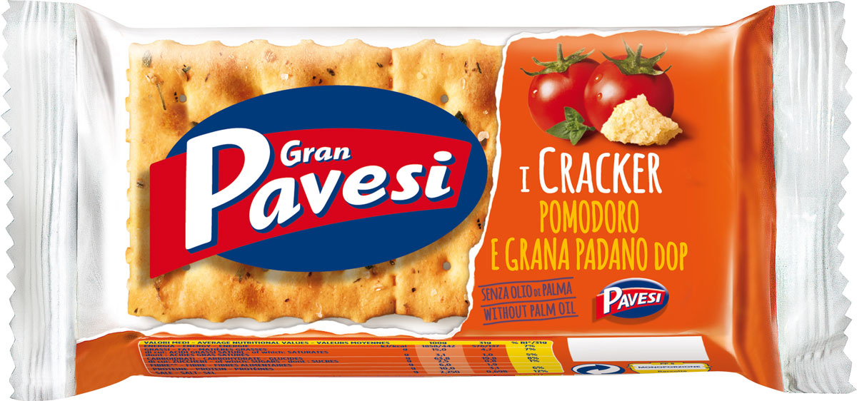 Gran Pavesi Cracker с томатами, 31 г