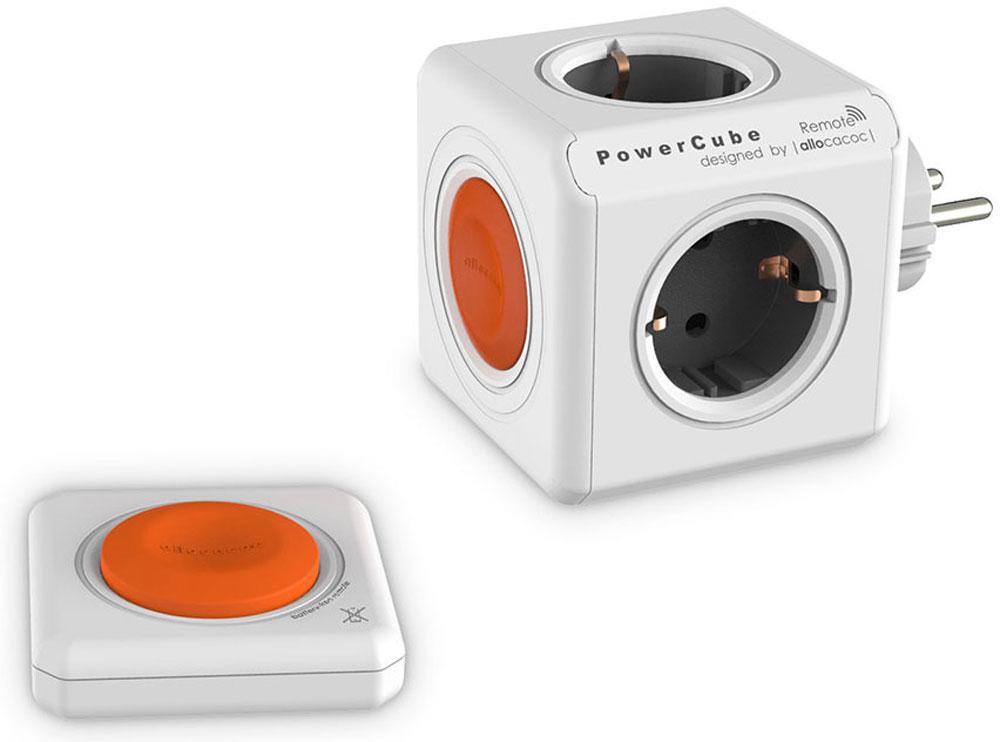 Allocacoc PowerCube Original Remote Set, White сетевой разветвитель и кнопка