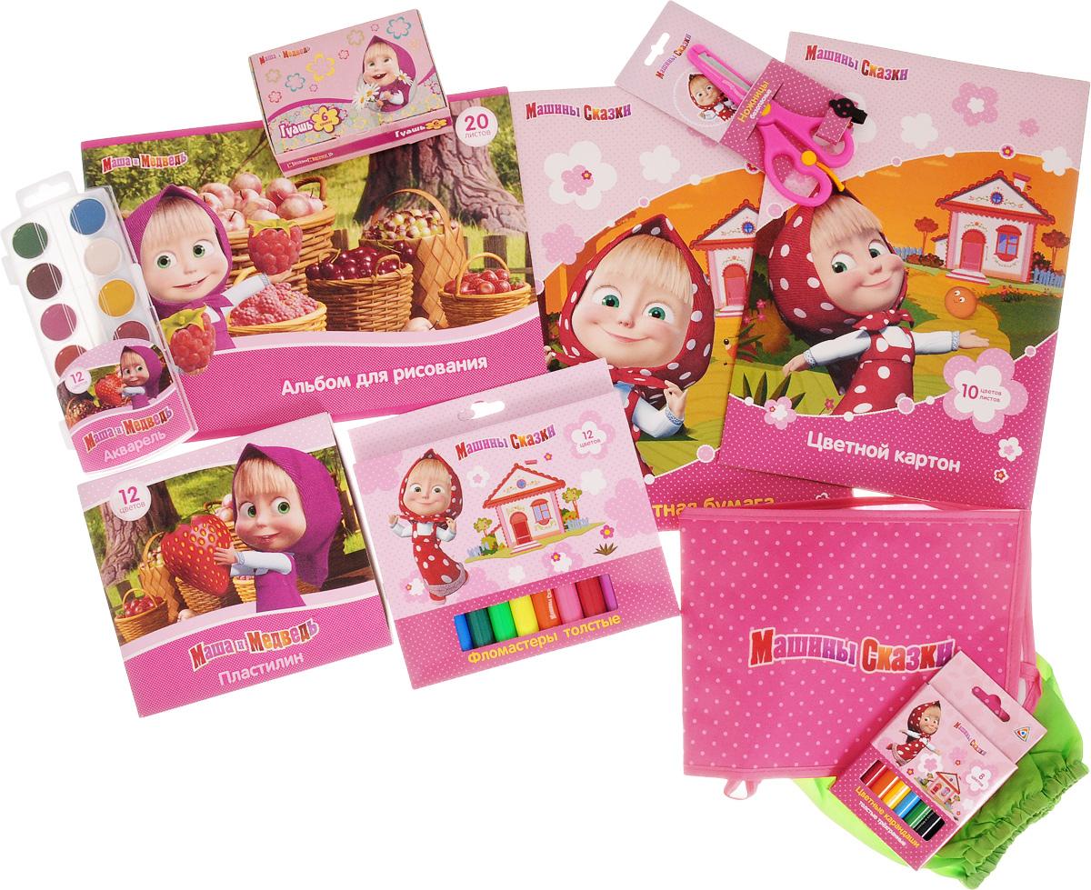 Маша и Медведь Набор для детского творчества 10 предметов -  Канцелярские наборы