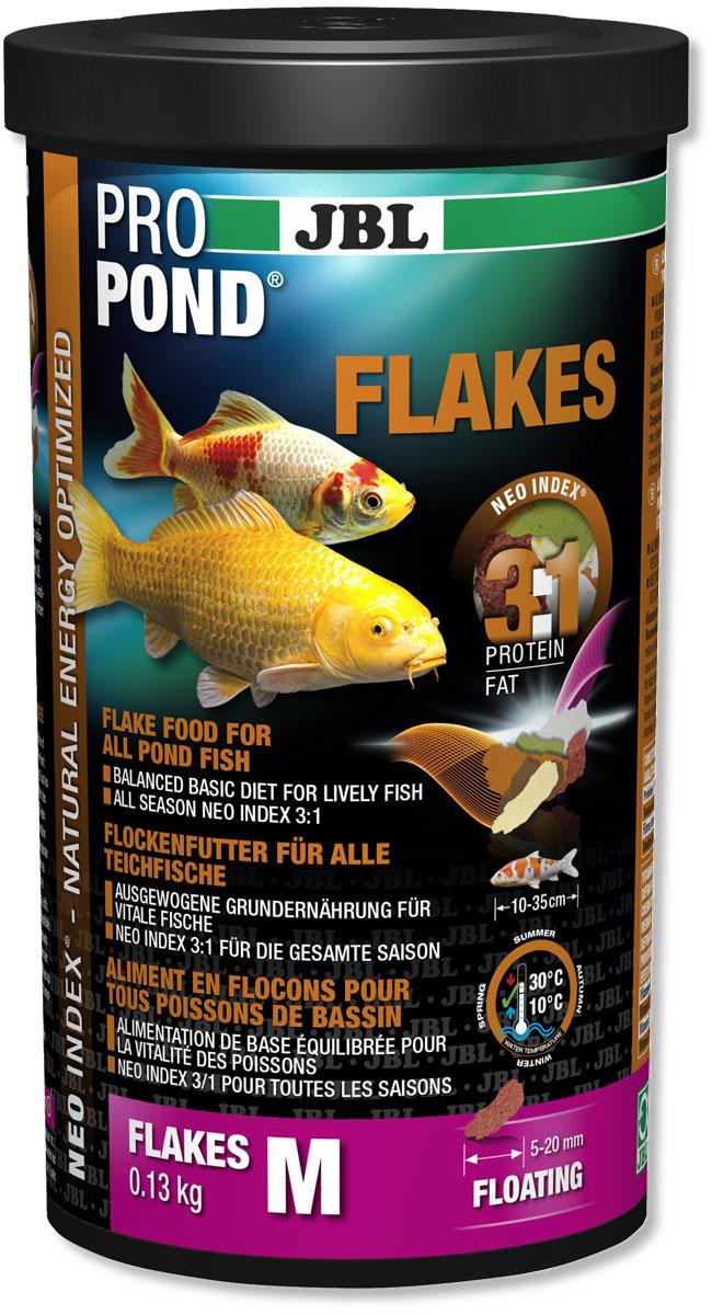 Корм JBL ProPond. Flakes M для прудовых рыб среднего размера, плавающие хлопья, 130 г (1 л)0120710Корм JBL ProPond. Flakes M в виде плавающих хлопьев предназначен для прудовых рыб среднего размера. Это основной корм с правильным соотношением белков и жиров 3:1 по индексу NEO Index, учитывающему температуру воды, функции, размер и возраст питомцев. NEO Индекс буквально означает: натуральное энергетически оптимизированное питание. Если рассматривать с точки зрения времени года, рыбы зимой должны получать вдвое меньше белков (2:1), чем летом (4:1). Однако учитываются не только время года и температура воды, но и размер, и возраст, а также функция корма (например, для роста - ProPond Growth). NEO Индекс сочетает в себе все эти нюансы. Корм содержит пшеницу, гаммарус, лосось, креветки и водоросли для силы и здоровья прудовых рыб (температура воды 10-30°C). Размер корма M (5-20 мм) предназначен для рыб 10-35 см. Плавучие хлопья с 12% белка, 4% жира, 1% клетчатки, а также 2% золы. Основной корм в закрывающейся, практичной, непрозрачной, водонепроницаемой пластиковой банке для лучшего качества. Товар сертифицирован.