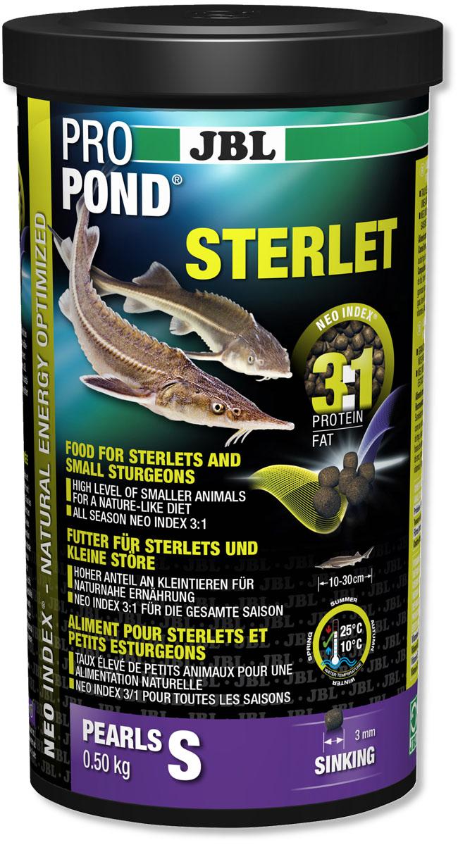 Корм JBL ProPond. Sterlet S для осетровых рыб небольшого размера, тонущие гранулы, 500 г (1 л)0120710Корм JBL ProPond. Sterlet S в виде тонущих гранул предназначен для осетровых рыб небольшого размера. Это основной корм с правильным соотношением белков и жиров 3:1 по индексу NEO Index, учитывающему температуру воды, функции, размер и возраст питомцев. Корм содержит лосось, креветки, кальмары, спирулину и гаммарус для природного рациона стерляди (при температуре воды 10-25°С). Размер корма S (3 мм) предназначен для рыб 10-30 см. Тонущие гранулы с 40% белка, 12% жира, 2% клетчатки и 8% золы. Маленькие гранулы хранятся в закрывающейся воздухо-, водо- и светонепроницаемой упаковке для сохранения качества. Осетровые - очень особые рыбы. Их форма тела уже указывает на их образ жизни: они плавают у дна и на ощупь усиками (химио-сенсорными органами) ищут в грунте мелких беспозвоночных, которыми питаются в природе. Корм JBL ProPond Sterlet подходит для такого способа кормления по составу (увеличена доля беспозвоночных) и свойствам, так как опускается на дно. Хотя осетр привыкает питаться на поверхности воды, такой способ кормления противоречит их естественному поведению, и возникает риск заглатывания воздуха. Осетровых всегда следует кормить специальным кормом, так как у него особый состав, и стерлядь может в борьбе за пищу неумышленно повредить костными пластинками слизистую оболочку кои. На практике можно давать корм золотым рыбкам и кои на поверхности в одной части пруда, а осетрам - тонущий корм в другой. Товар сертифицирован.