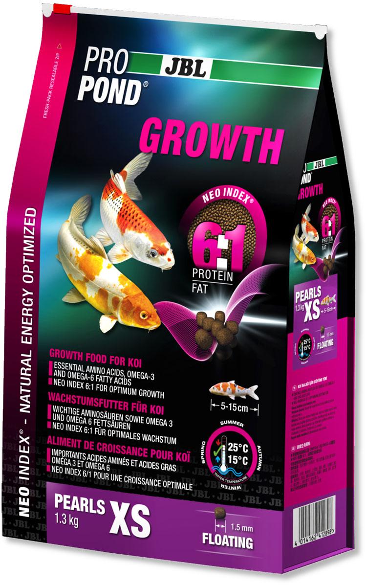 Корм JBL ProPond. Growth XS для активного роста карпов кои очень маленького размера, плавающие гранулы, 1,3 кг (3 л)0120710Корм JBL ProPond. Growth XS в виде плавающих гранул предназначен для активного роста карпов кои очень маленького размера. Это основной корм с правильным соотношением белков и жиров 5:1 по индексу NEO Index, учитывающему температуру воды, функцию, размер и возраст рыб. NEO Индекс буквально означает: натуральное энергетически оптимизированное питание. Если рассматривать с точки зрения времени года, рыбы зимой должны получать вдвое меньше белков (2:1), чем летом (4:1). Однако учитываются не только время года и температура воды, но и размер, и возраст, а также функция корма (например, для роста - ProPond Growth). NEO Индекс сочетает в себе все эти нюансы. Корм содержит лосось, креветки, спирулину, рыбий жир для оптимального роста (при температуре воды 15-25°С). Размер корма XS (1,5 мм) предназначен для рыб 5-15 см. Плавучие гранулы с 46% белка, 10% жира, 2% клетчатки и 10% золы. Корм в виде гранул для роста хранится в закрывающемся, воздухо-, водо- и светонепроницаемом пакете для лучшего качества. Товар сертифицирован.